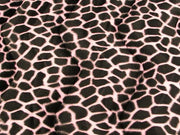 Velboa Animal Skins Fur Giraffe Pink Black