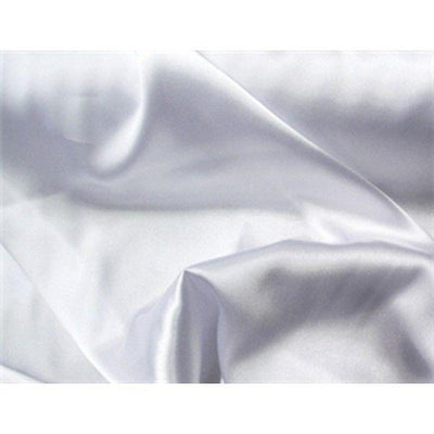 Charmeuse Silky Satin 44 Inch Width WHITE