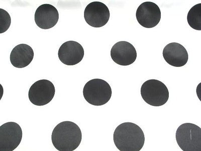 Polka Dot Dull Satin BLACK 3