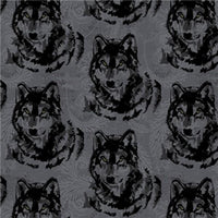 Premium Anti-Pill Wolf Heads Fleece A52