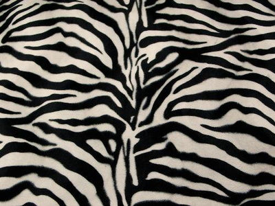 Velboa Large Ivory Black Zebra Prints