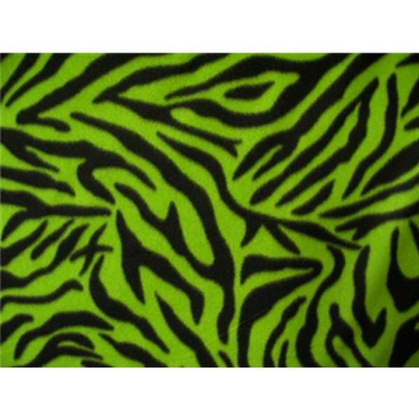 Zebra Black Lime Fleece