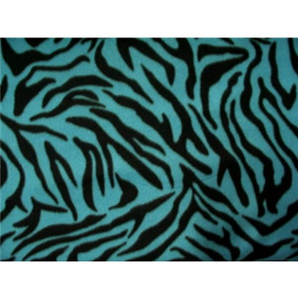 Zebra Black Turquoise Fleece