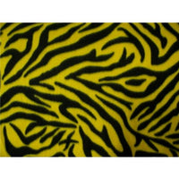 Zebra Black Yellow Fleece