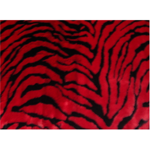 Zebra Red Minky Fur