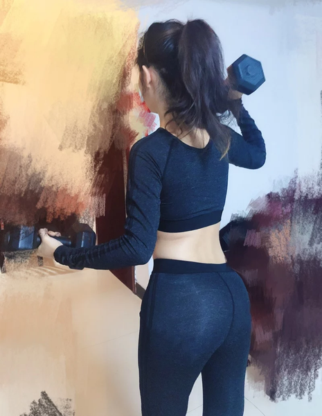 Gym/yoga workout set ( leggings + top)