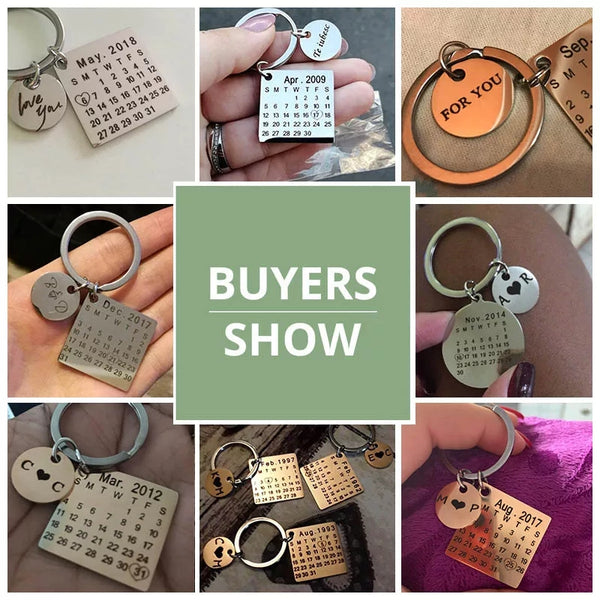 Personalised Engraved Calendar Keychain