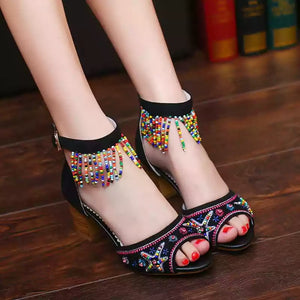 High Heel Tassle drop sandals * Free Shipping*