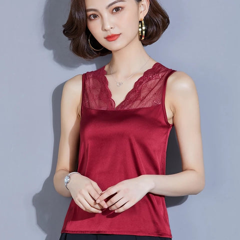Beautiful Sleeveless silk Chiffon top (Free Shipping)
