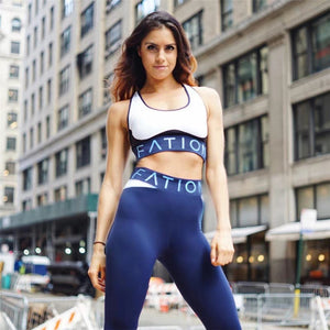Combination design gym workout set ( leggings + top)