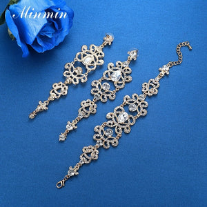 Designer Crystal Earrings and bracelet Set