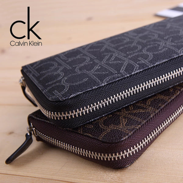 Calvin Klein Monogram Zip Around Wallet