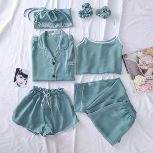 Beautiful Ice silk sleepwear set just for 50$, free shipping