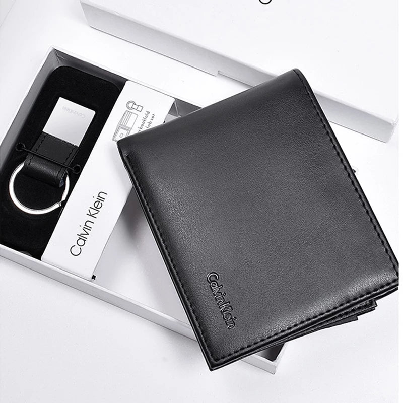 how to find wholesale price special promotion Calvin Klein Wallet with Leather Key Chain for Men - Black
