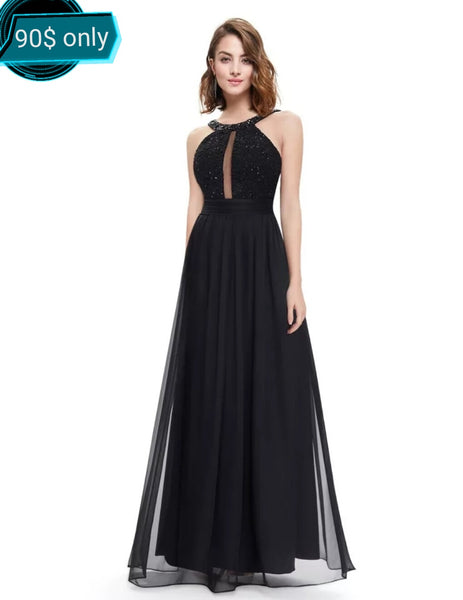 Gorgeous Spaghetti Strap Lacy Ruffled Evening Dress