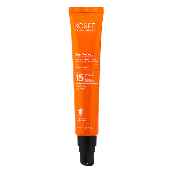 Sun Secret Fluido Viso Spf15
