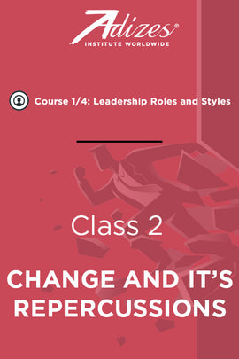 Adizes Live Course on Organizational Transformation. Slides Class 2 - CHANGE AND IT'S REPERCUSSIONS (English)