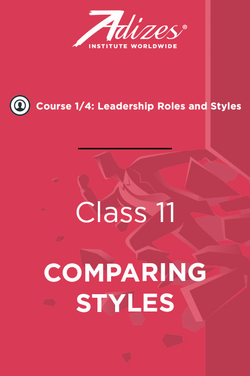 Adizes Live Course on Organizational Transformation. Slides Class 11 - COMPARING STYLES (English)