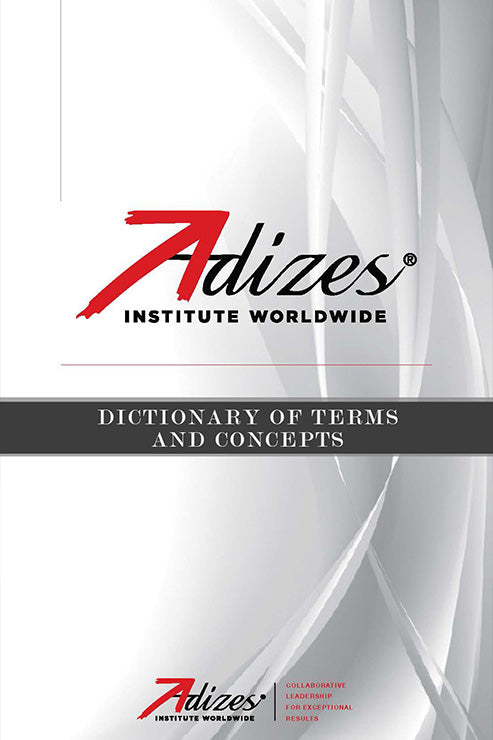 Adizes Dictionary of Terms and Concepts (e-Book)
