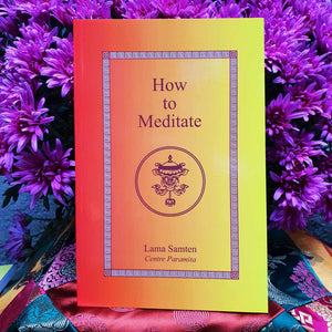 LIVRE - Book : How To Meditate From Lama Samten