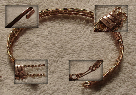 how to make a gold wire bracelet