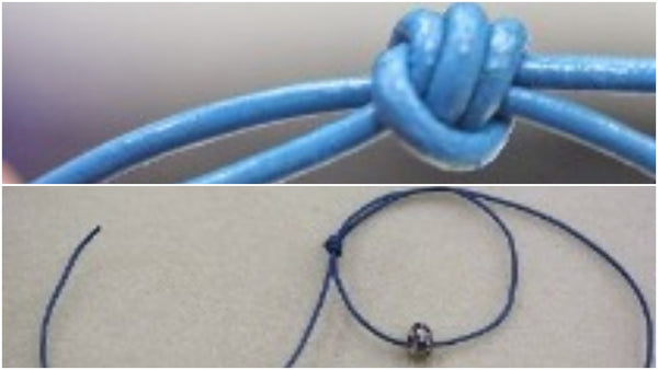 how to tie a sliding knot with one string