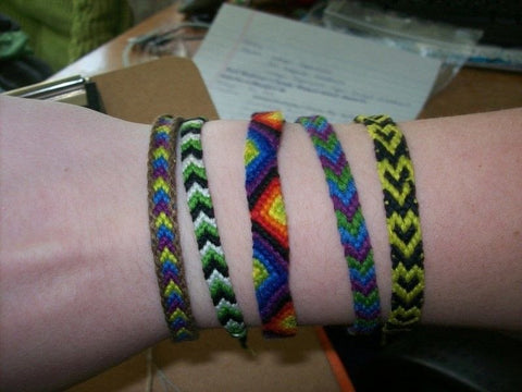 embroidery friendship bracelets