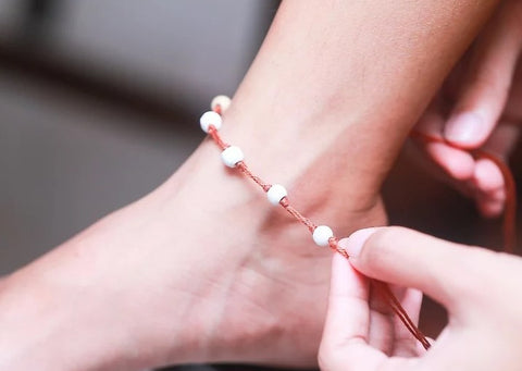 how to make anklets at home step by step