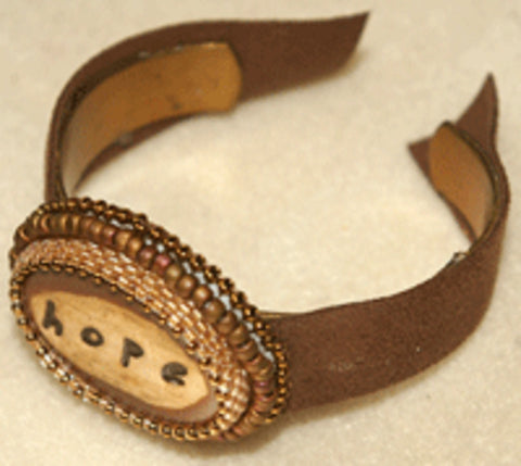 bead leather cuff bracelet instructions