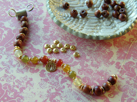 how to make a wrist mala
