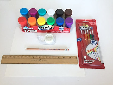 supplies needed to make paper bracelets