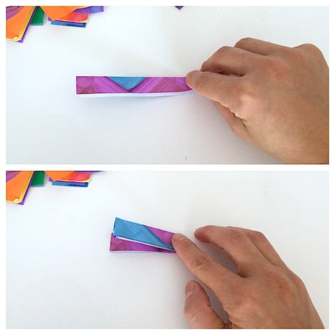 how to make friendship bands with paper step by step