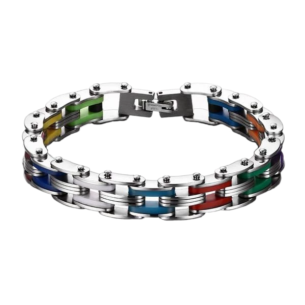 Stainless Steel Clasp Silicone Bracelet