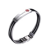 Multi-Layer Steel Medical ID Bracelet