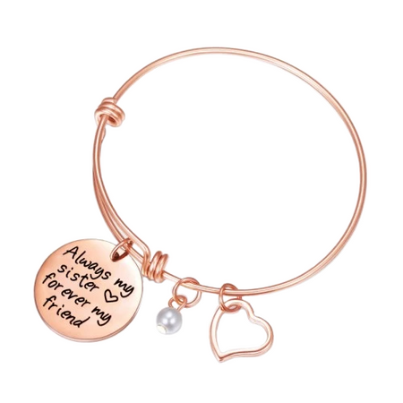 Gold / Silver Quotes Charm Sister Bracelet