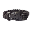 Black Paracord Plastic Buckle Survival Bracelet