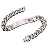 Stainless Steel Alert Medical ID Bracelet