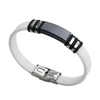 Black / White Sports Silicone Bracelet
