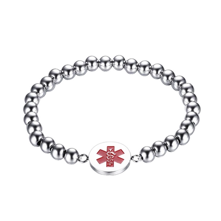 Stainless Steel Yoga Medical ID Bracelet