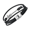 Braided Guitar Charm Men's Leather Bracelet