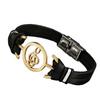 Music Charm Men's Leather Bracelet