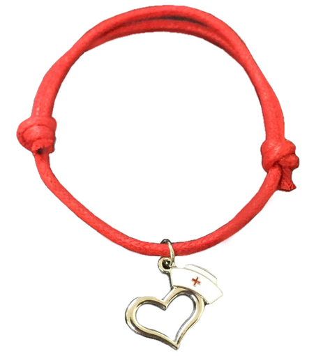 Red Rope Nurse Medical Bracelet