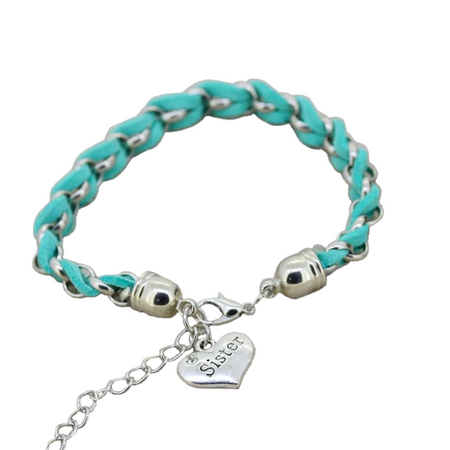 Multi-Color Leather Chain Sister Bracelet