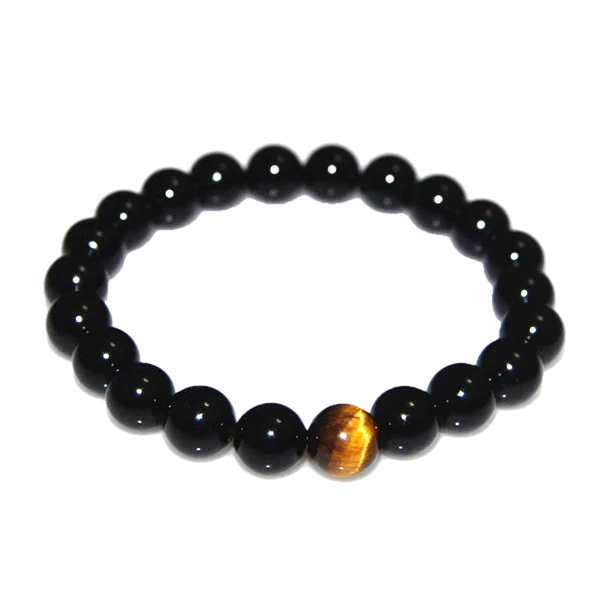 Black Onyx - Men's Beaded Bracelet