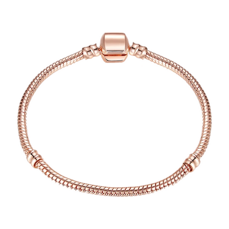 Snake Chain Rose Gold Bracelet