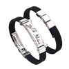 Stainless Steel Zodiac Sign Silicone Bracelet