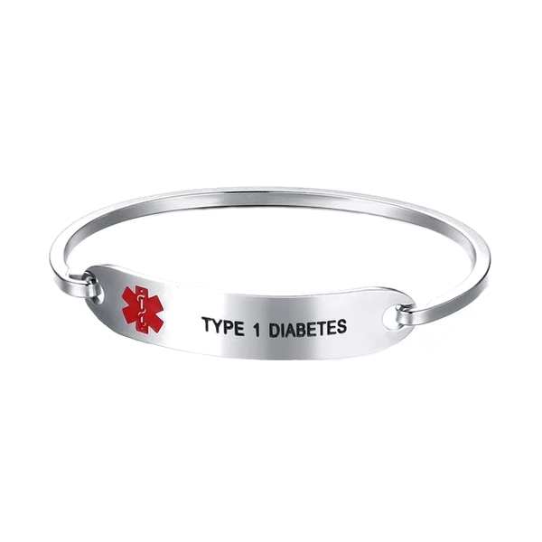 Cuff Bangle Medical ID Bracelet
