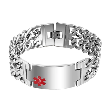 Chain Link Medical ID Bracelet