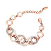 Circle Links Rose Gold Bracelet