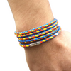 Multi-Color Long Leather Wrap Bracelet